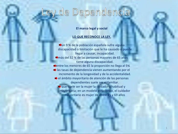 <ul><li>El marco legal y social </li></ul><ul><li>LO QUE RECONOCE LA LEY. </li></ul><ul><li>un 9 % de la población español...