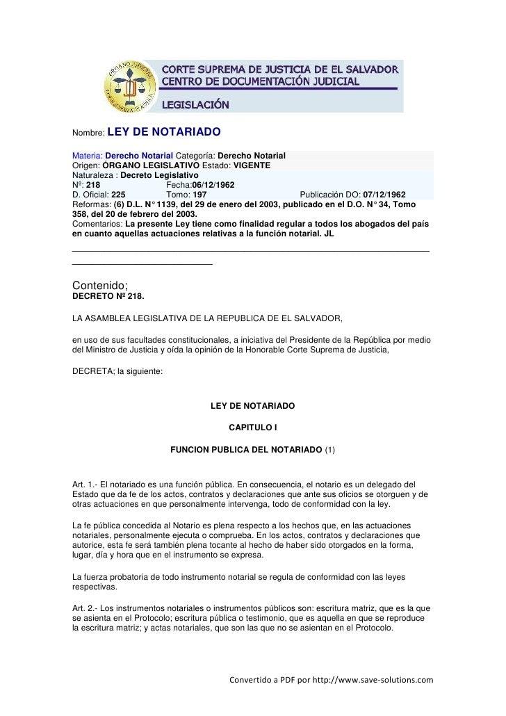 Ley de-notariado