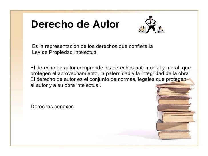 Ley de propiedad intelectual y derecho de autor for Derecho de paternidad