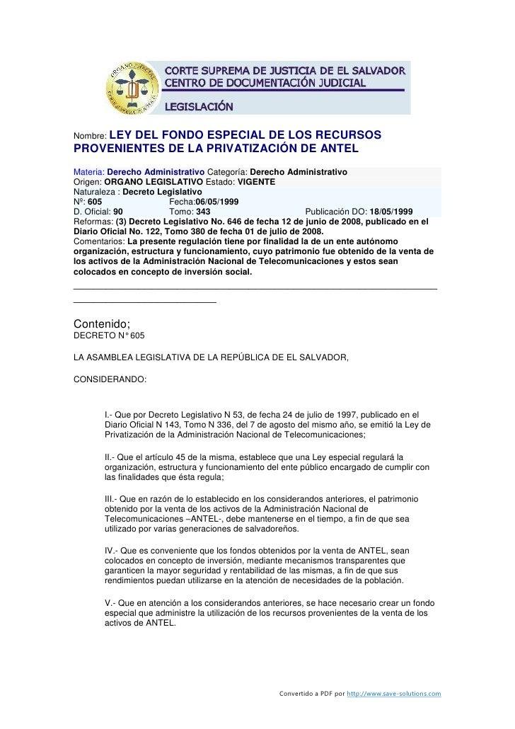 Ley del-fondo-especial-de-los-recursos-provenientes-de-la-privatización-de-antel