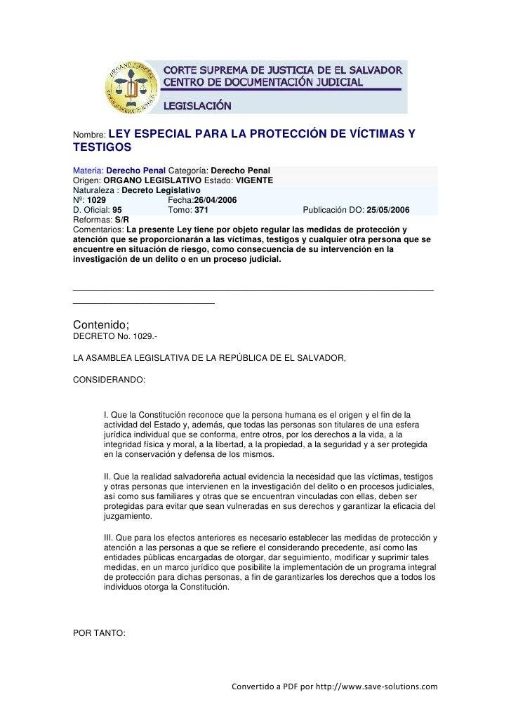 Ley especial-para-la-protección-de-víctimas-y-testigos