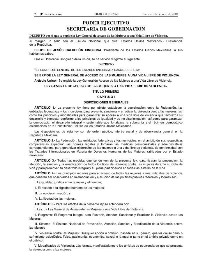 2   (Primera Sección)                        DIARIO OFICIAL                     Jueves 1 de febrero de 2007               ...