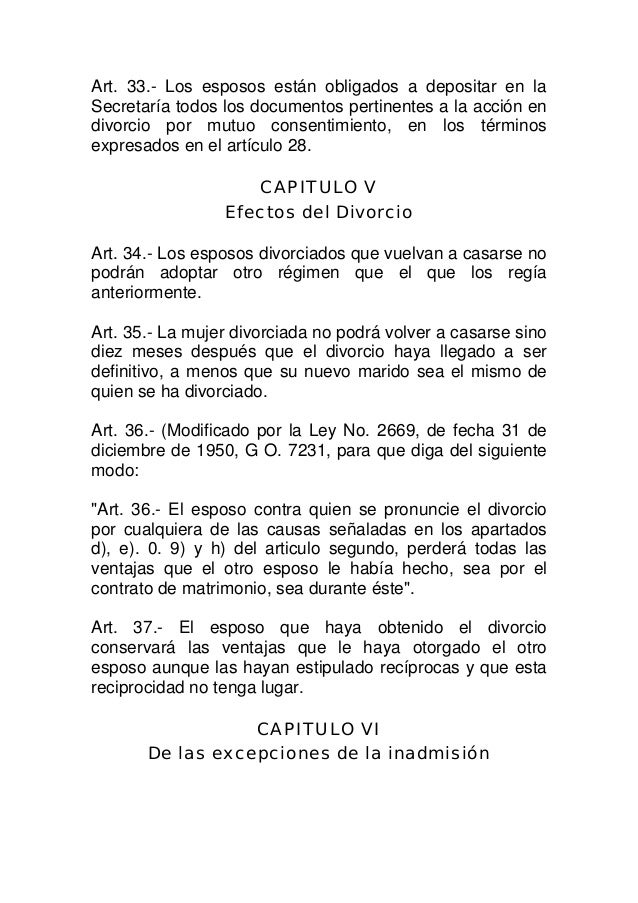 Ley de divorcio 1306 bis