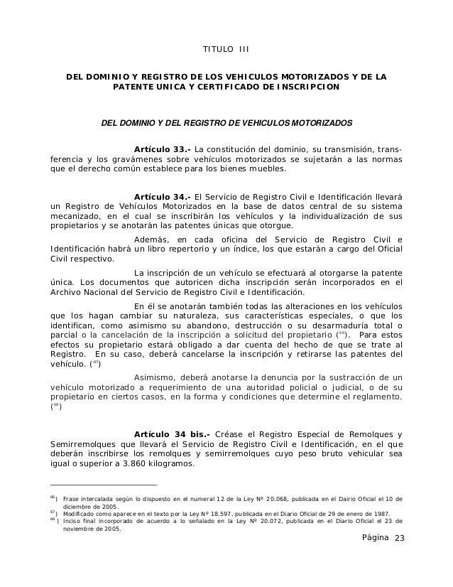 Registro Bienes Muebles Toledo : Ley