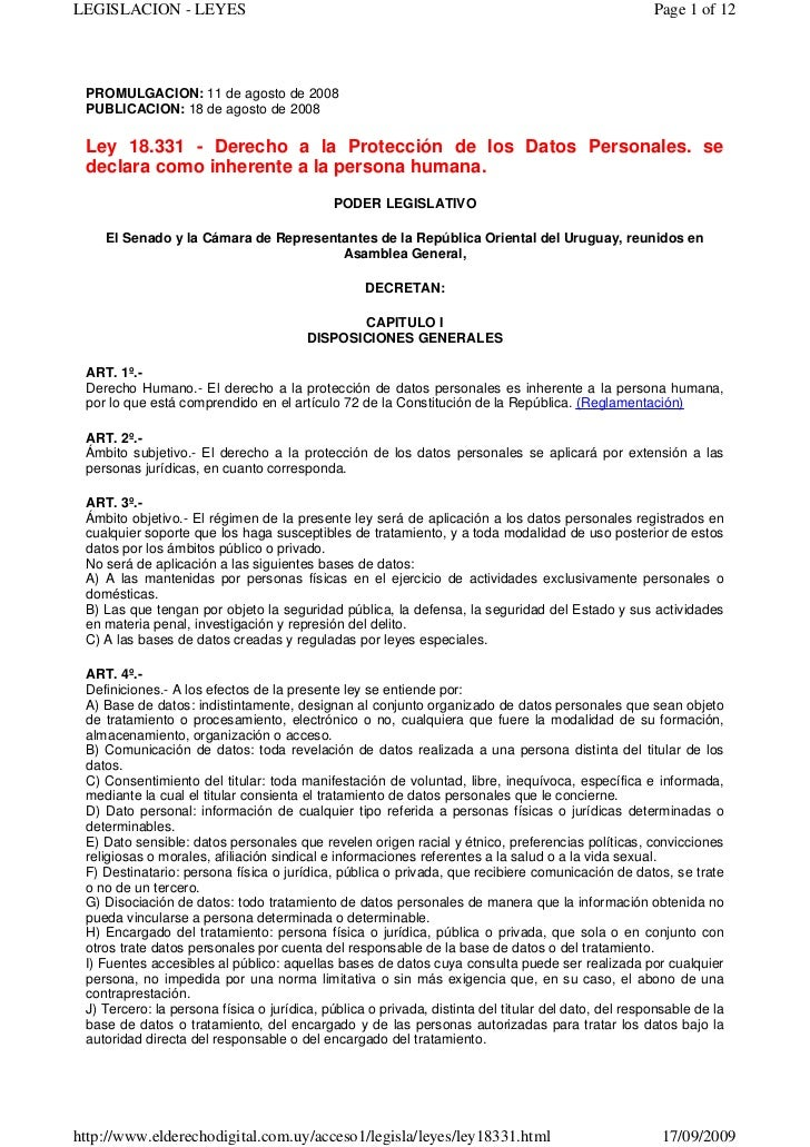 LEGISLACION - LEYES                                                                                  Page 1 of 12 PROMULGA...