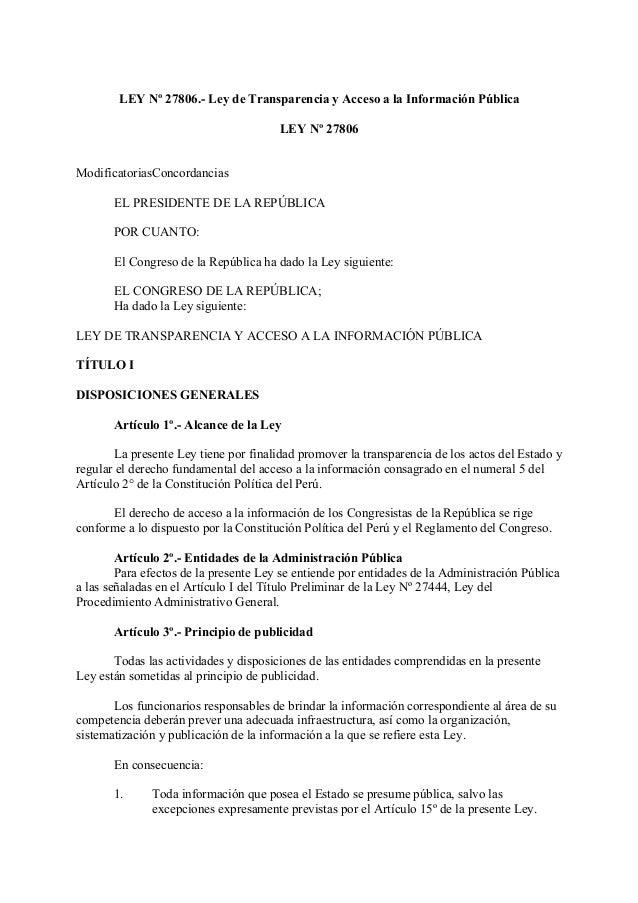 Ley de transparencia y acceso a la informaci n publica for Oficina de transparencia y acceso ala informacion