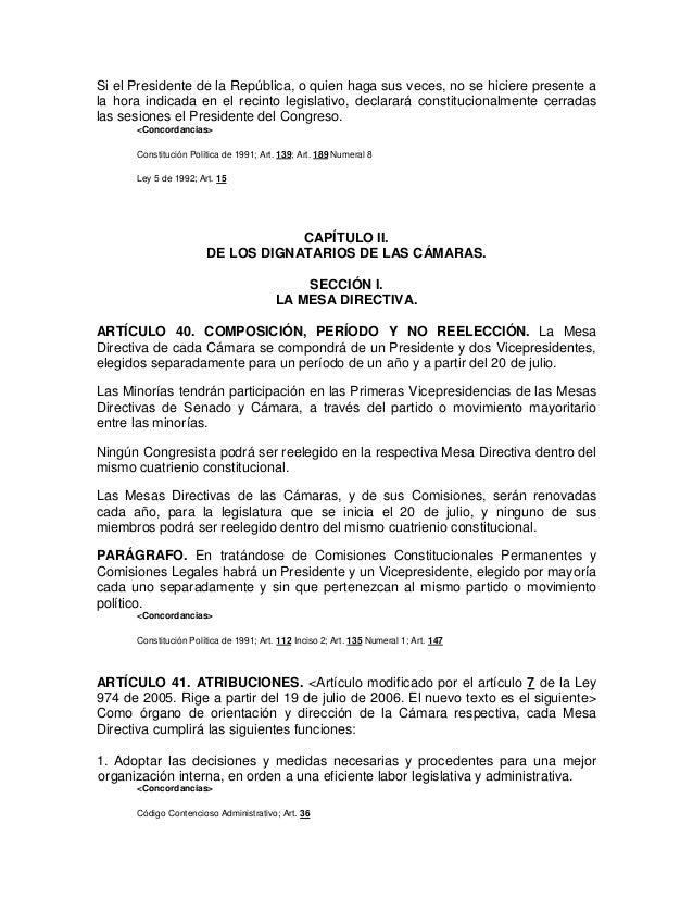 Ley 5 de 1992 pdf