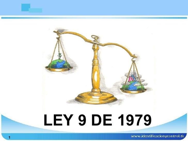 LEY 9 DE 1979
