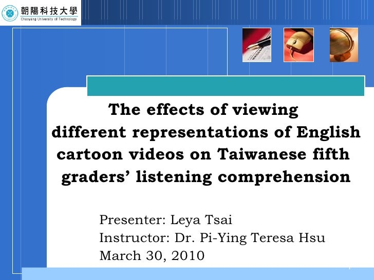Presenter: Leya Tsai Instructor: Dr. Pi-Ying Teresa Hsu March 30, 2010 The effects of viewing  different representations o...