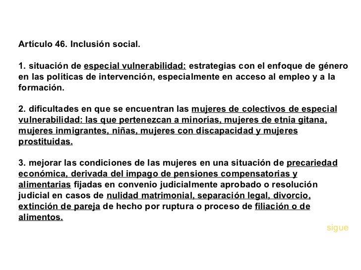 Ley andaluza iguadad de genero - Pension de viudedad en caso de divorcio ...