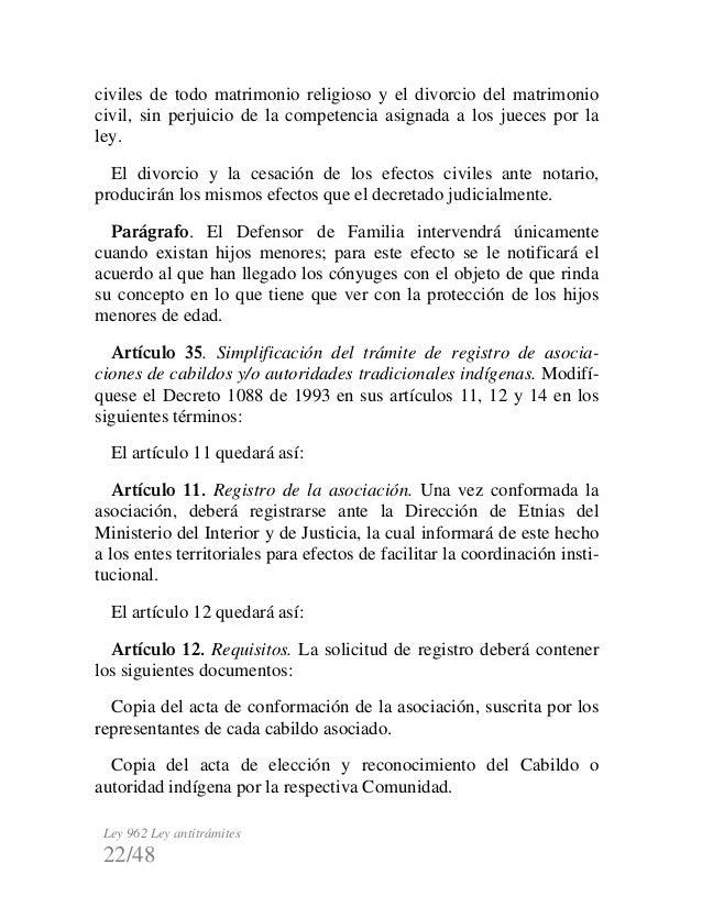 Divorcio Matrimonio Catolico Ante Notario : Ley antitramite