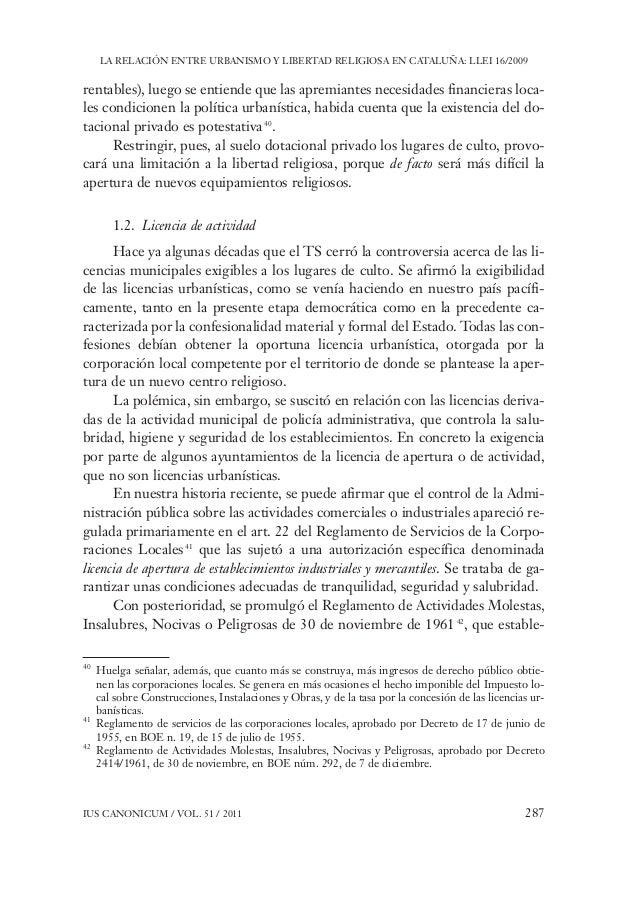 Ley catalana de centros de culto for Diferencia entre licencia de apertura y licencia de actividad
