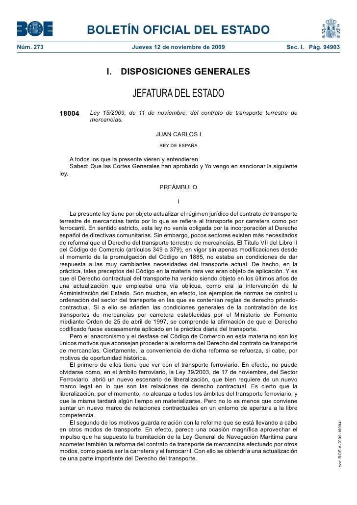 BOLETÍN OFICIAL DEL ESTADO Núm. 273                                Jueves 12 de noviembre de 2009                         ...