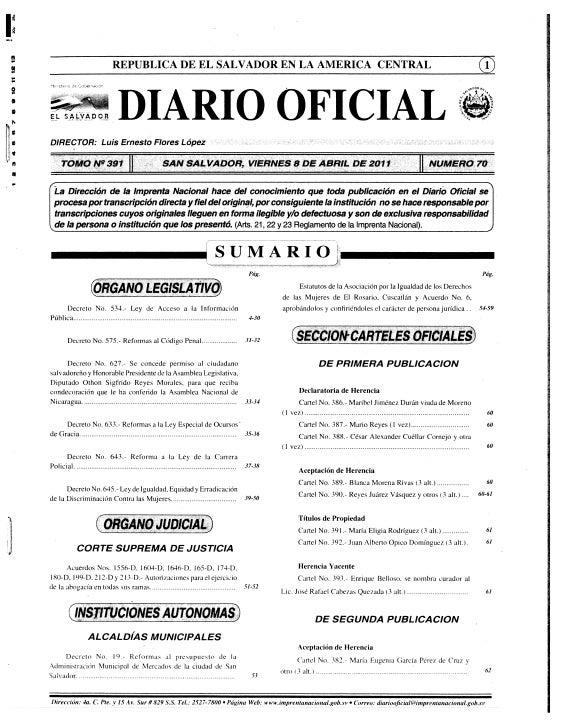 REPUBLICA DE EL SALVADOR EN LA AMERICA CENTRAL    SALJADOR              DIARIO                                            ...