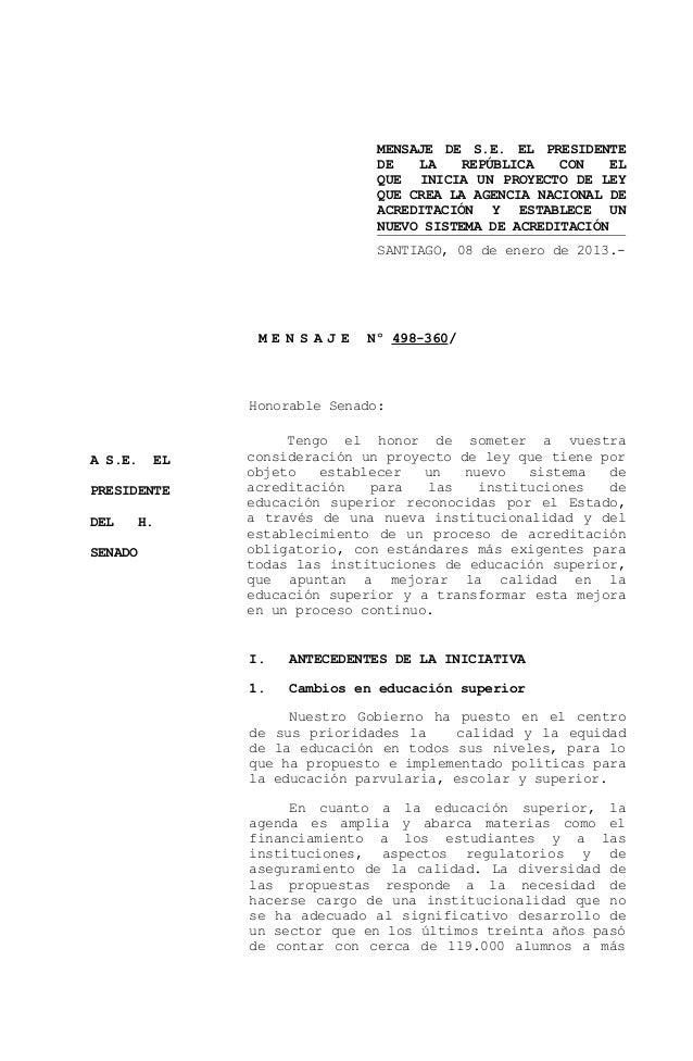 MENSAJE DE S.E. EL PRESIDENTE                                DE   LA    REPÚBLICA   CON    EL                             ...