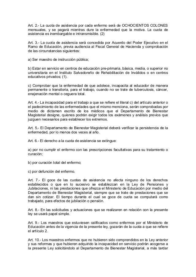 Ley de asistencia del magisterio nacional Slide 2