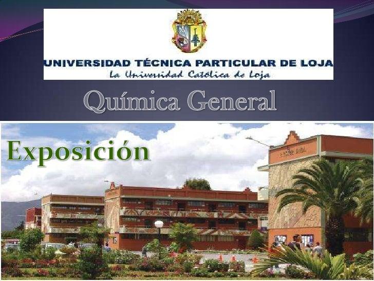 Química General<br />Exposición<br />
