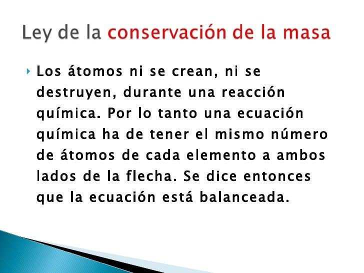 Ley De Conservacion De La Masa
