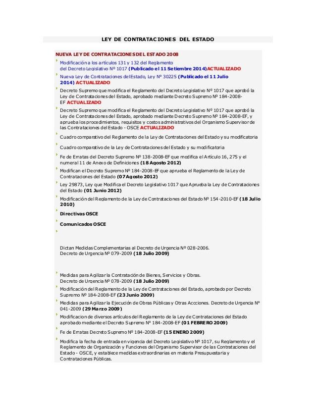 LEY DE CONTRATACIONES DEL ESTADO NUEVA LEY DE CONTRATACIONES DEL ESTADO 2008 Modificación a los artículos 131 y 132 del Re...