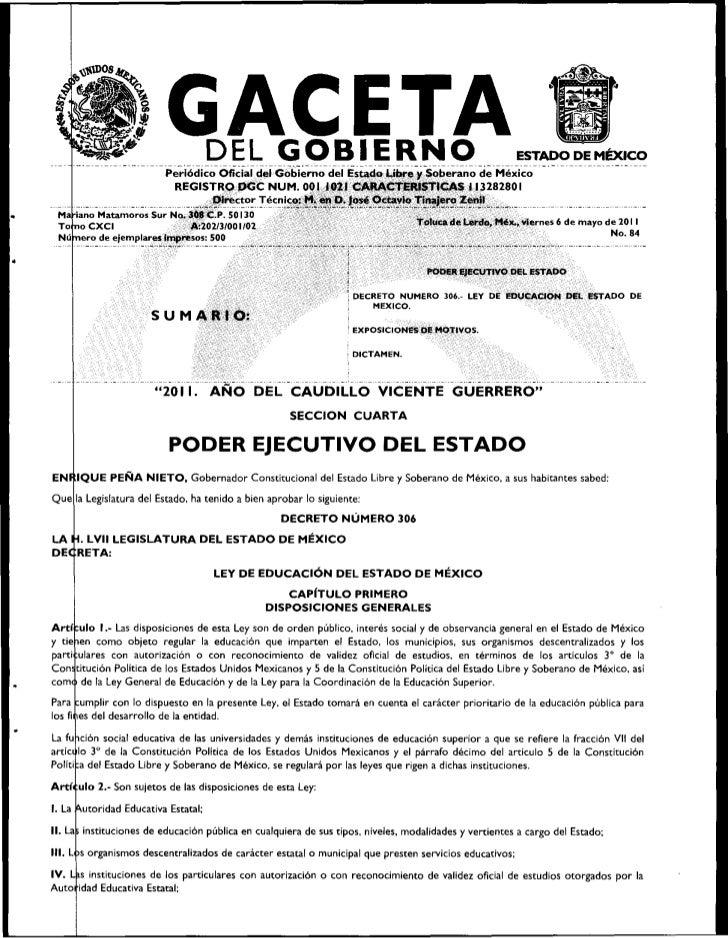 DEL GOBIERNO                                                      CETAEstado Libro y Soberano de México                   ...