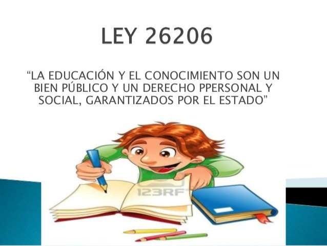 LEY DE EDUCACION 26206 PDF