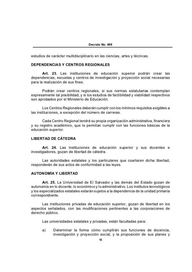 Decreto No. 468estudios de carácter multidisciplinario en las ciencias, artes y técnicas.DEPENDENCIAS Y CENTROS REGIONALES...