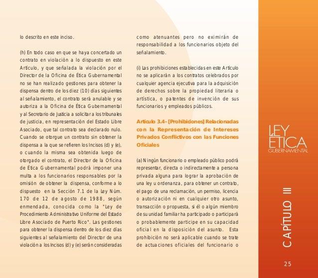 Ley de etica gubernamental de puerto rico libro for Clausula suelo oficina directa