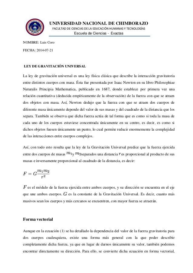 UNIVERSIDAD NACIONAL DE CHIMBORAZO FACULTAD DE CIENCIAS DE LA EDUCACIÓN HUMANAS Y TECNOLOGÍAS Escuela de Ciencias - Exacta...