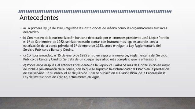Ley de instituciones de credito Slide 3