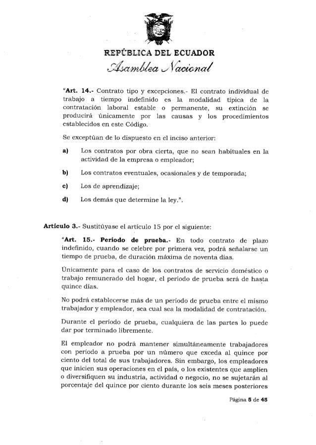 Ley de justicia laboral y reconocimiento del trabajo en el Contrato de trabajo indefinido servicio hogar familiar