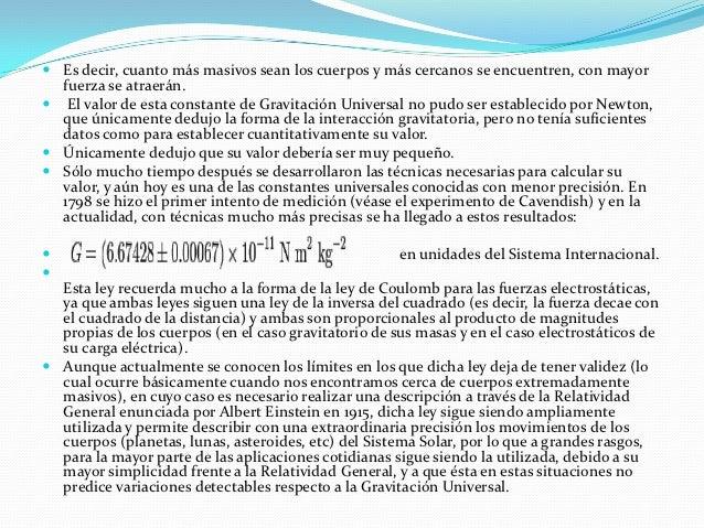 Ley de la gravitacion universal Slide 3
