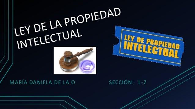 MARÍA DANIELA DE LA O SECCIÓN: 1-7