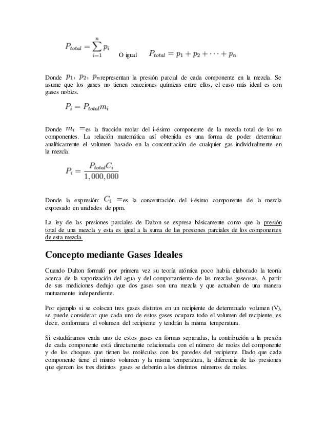 Ley De Las Presiones Parciales De Dalton Slide 2