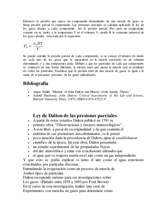 Ley De Las Presiones Parciales De Dalton Slide 3