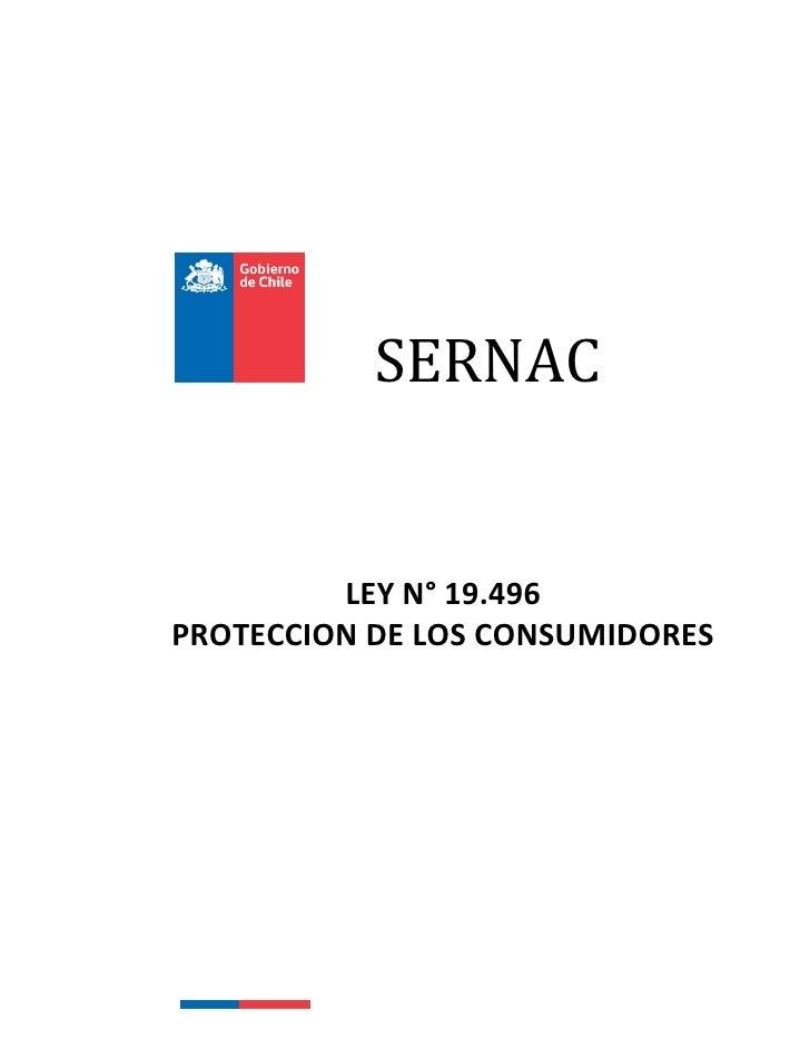 SERNAC         LEY N° 19.496PROTECCION DE LOS CONSUMIDORES
