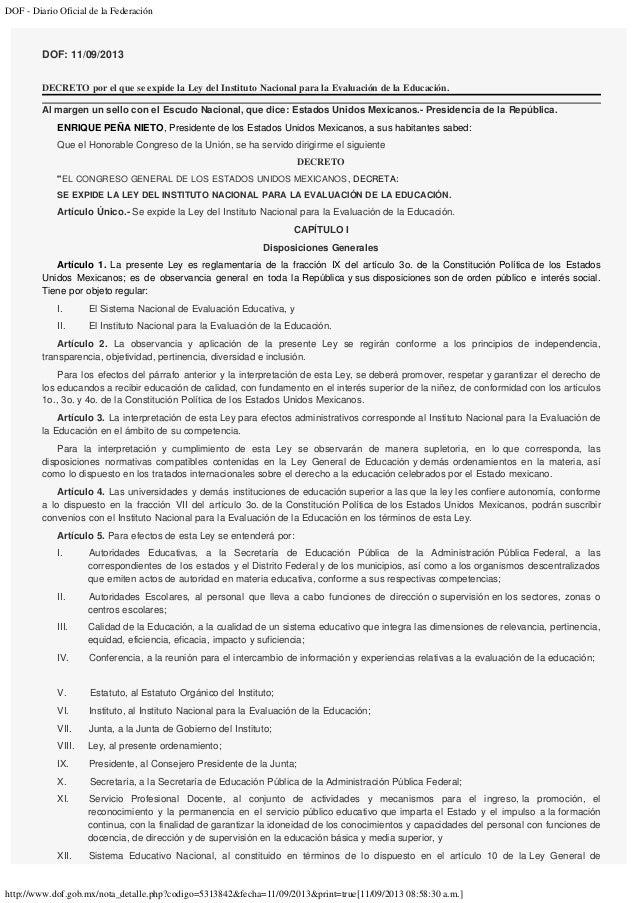 DOF - Diario Oficial de la Federación http://www.dof.gob.mx/nota_detalle.php?codigo=5313842&fecha=11/09/2013&print=true[11...