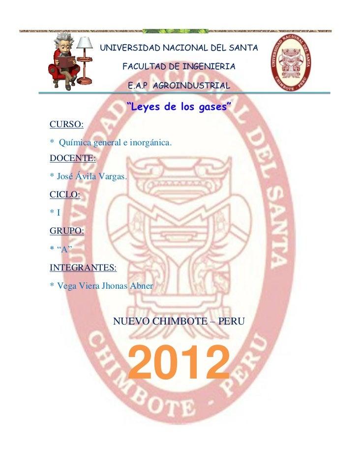 UNIVERSIDAD NACIONAL DEL SANTA                  FACULTAD DE INGENIERIA                       E.A.P AGROINDUSTRIAL         ...