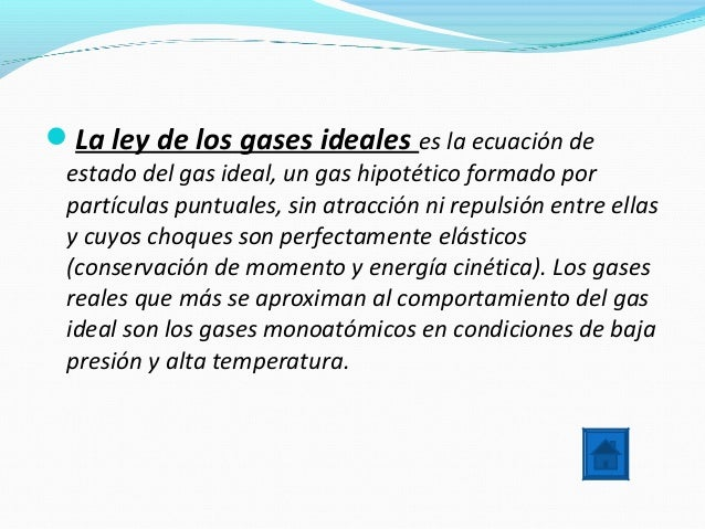 Gas Ideal Definicion