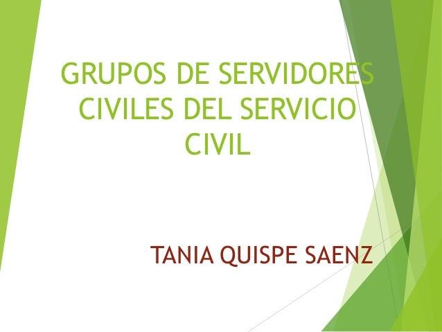 GRUPOS DE SERVIDORES CIVILES DEL SERVICIO CIVIL TANIA QUISPE SAENZ