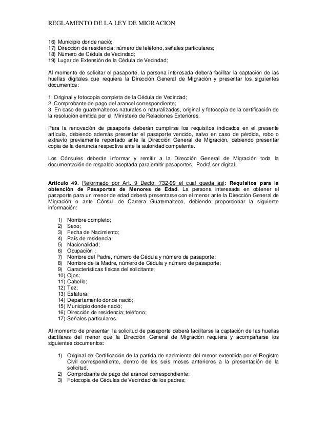 Ley de migracion _ GUATEMALA