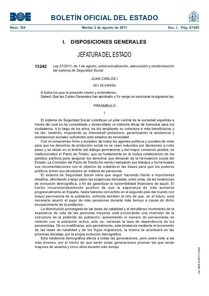 BOLETÍN OFICIAL DEL ESTADONúm. 184                                 Martes 2 de agosto de 2011                             ...