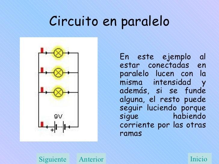 Circuito Paralelo : Ley de ohm