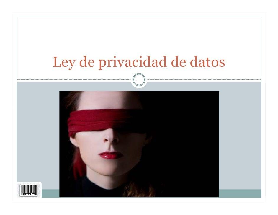 Ley de privacidad de datos