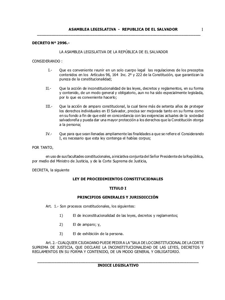 ASAMBLEA LEGISLATIVA - REPUBLICA DE EL SALVADOR         1   ______________________________________________________________...