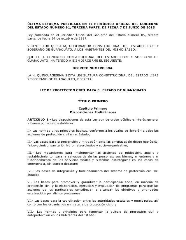 ÚLTIMA REFORMA PUBLICADA EN EL PERIÓDICO OFICIAL DEL GOBIERNO DEL ESTADO NÚMERO 91, TERCERA PARTE, DE FECHA 7 DE JUNIO DE ...