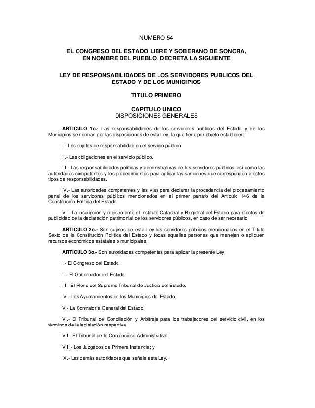 NUMERO 54        EL CONGRESO DEL ESTADO LIBRE Y SOBERANO DE SONORA,             EN NOMBRE DEL PUEBLO, DECRETA LA SIGUIENTE...