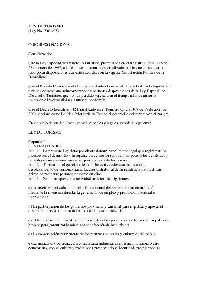 Ley de turismo completa for Ley de ministerios