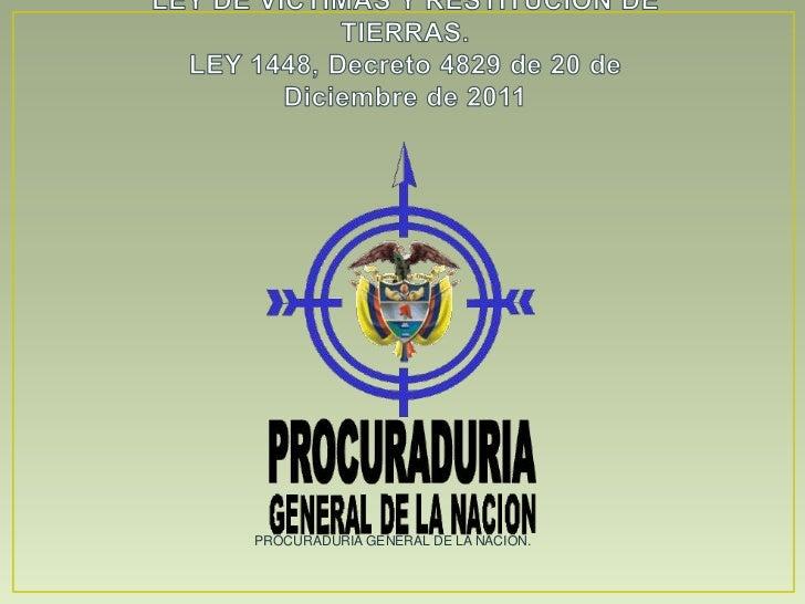 PROCURADURIA GENERAL DE LA NACION.