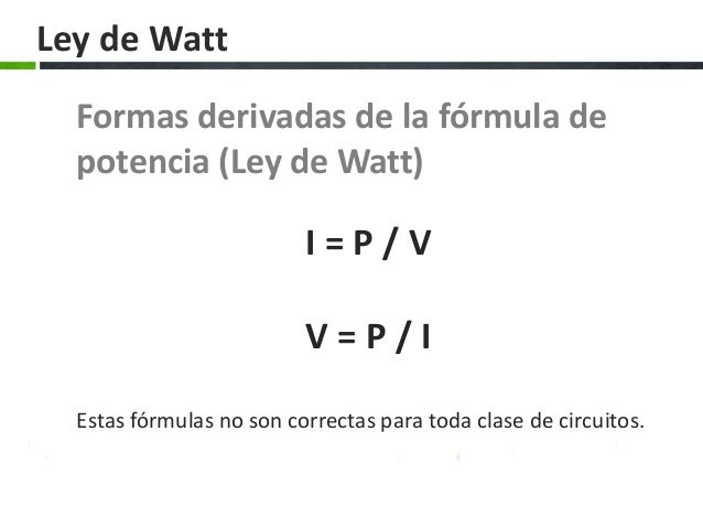 how to find watts formula