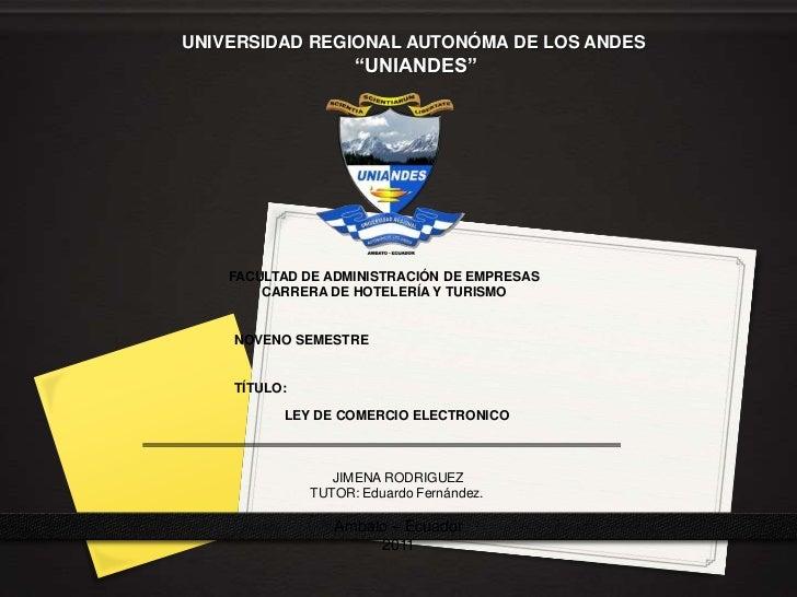 """UNIVERSIDAD REGIONAL AUTONÓMA DE LOS ANDES                    """"UNIANDES""""    FACULTAD DE ADMINISTRACIÓN DE EMPRESAS        ..."""